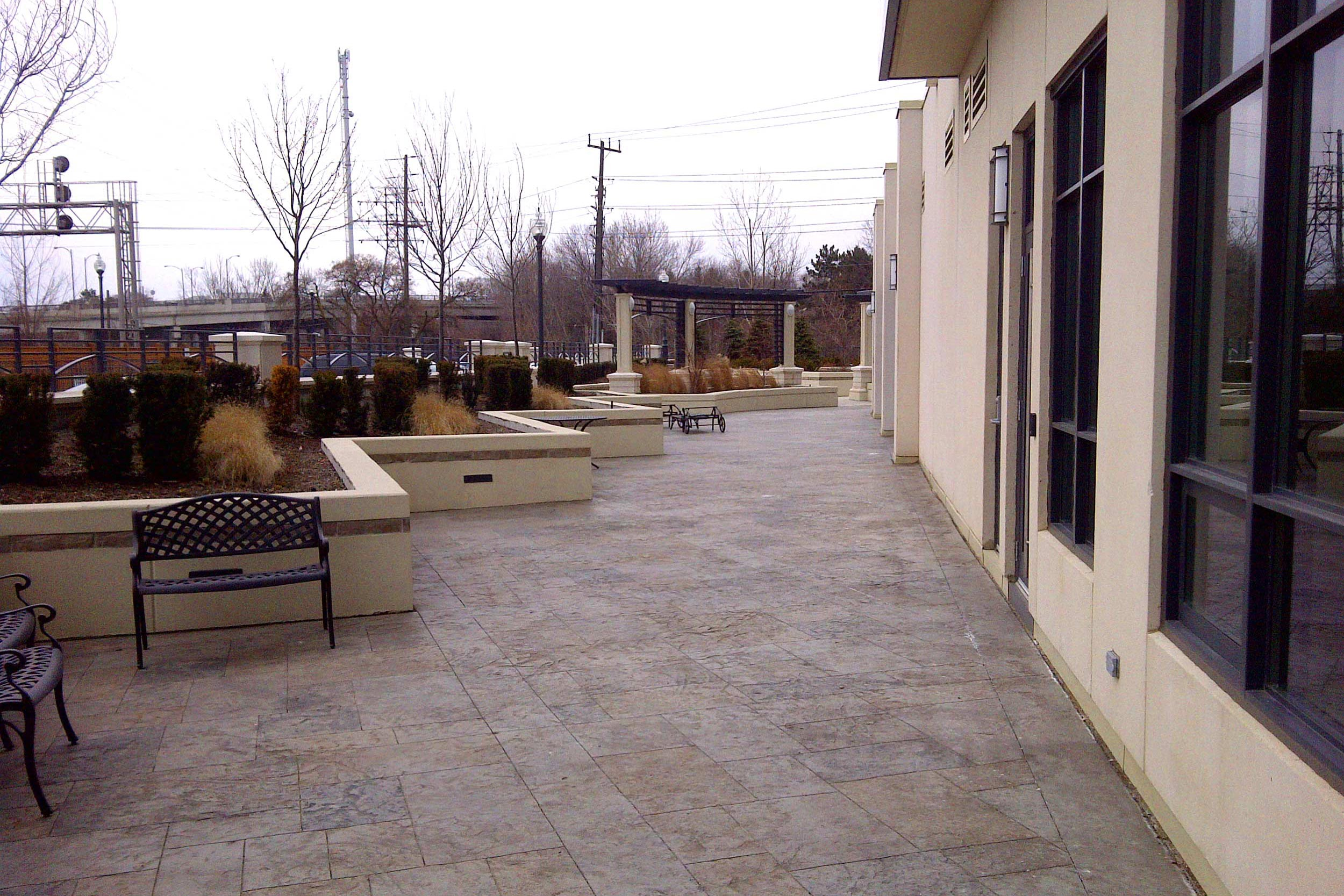commercial uses of stamped concrete offers a durable and beautiful appearance
