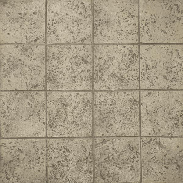 a natural stone light grey-brown look of stamped concrete squares