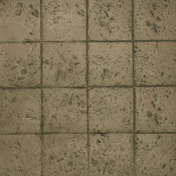 Copley style of adoquin stone stamped concrete is a unique tone and pattern