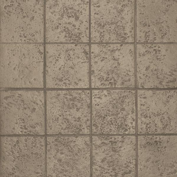 brown tone to squares in stamped concrete highlights the environment