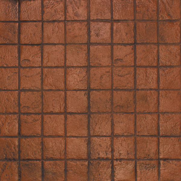 brick red is a great color that combines well with the modern look of stacked bond concrete