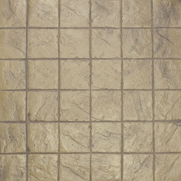 square grids are the form of the stacked bond design of stamped concrete