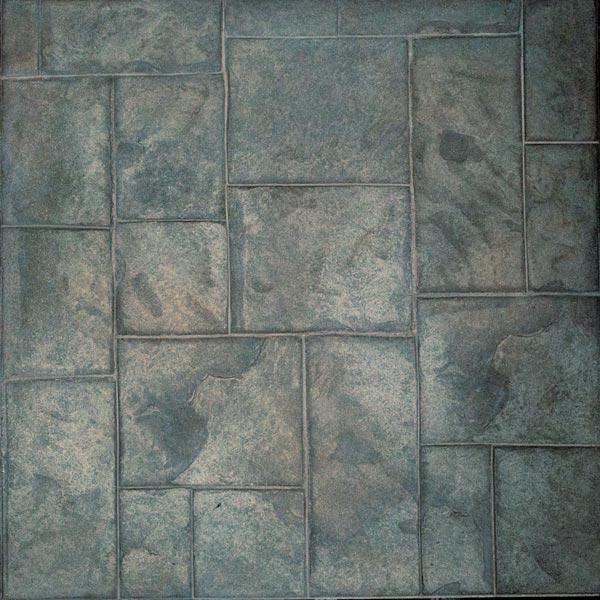 ashlar slate - burnt umber stamped concrete