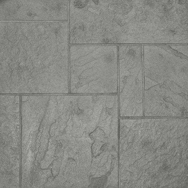 a series of stamped concrete patterns based on York in England, here in Cape Cod Grey