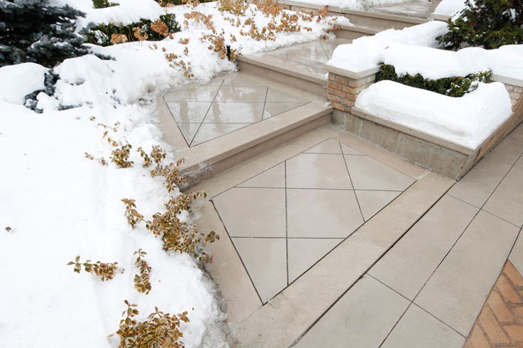 we offer maintenance for stamped concrete and decorative concrete surfaces