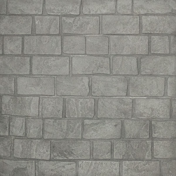 running bond cobblestone in cape cod grey - a great example of stamped concrete