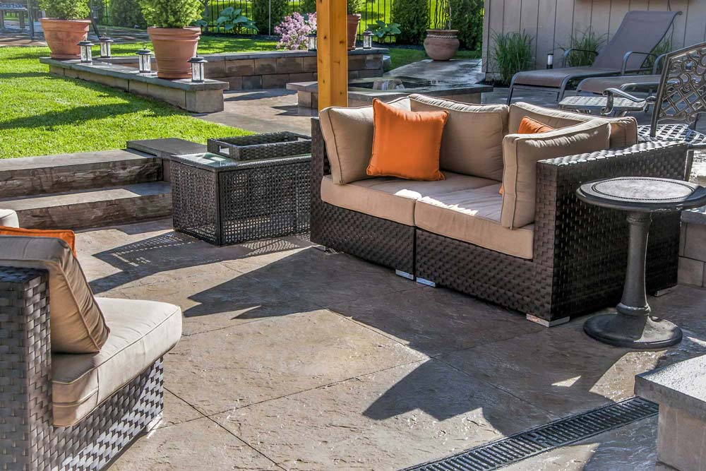 an outdoor living space needs a good walking surface