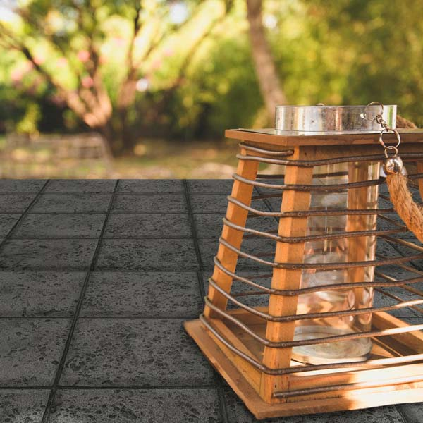 highlight your furniture with geometric stamped concrete