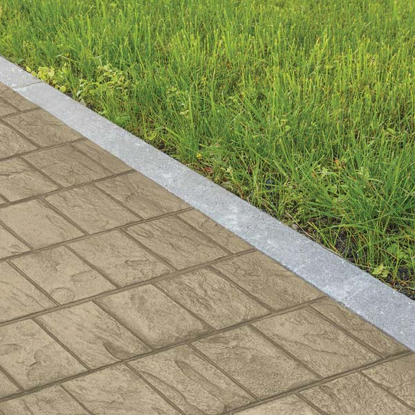 the ardesia stamped concrete pattern is great for a walkway