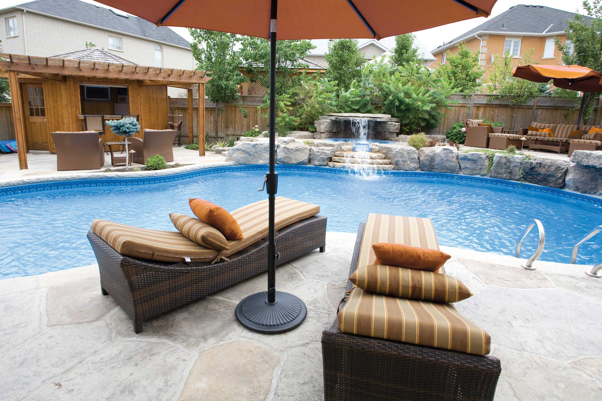 poolside furniture is a great addition