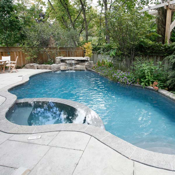 quarry cut ripple slate adds a great stamped concrete texture to a pool deck