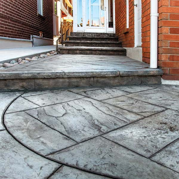 hewn stone makes a great look for your entryway