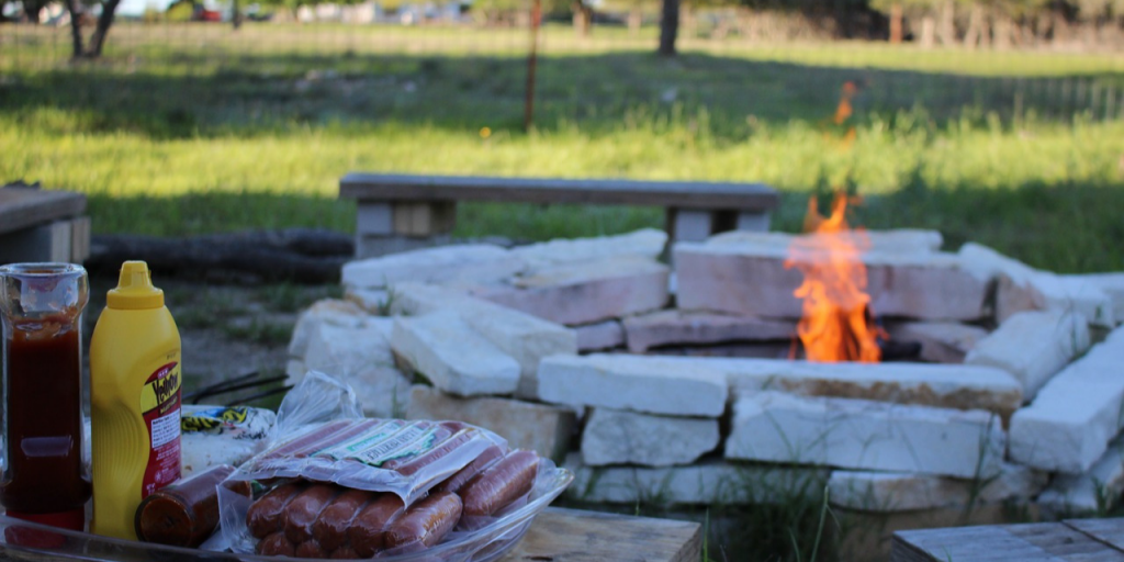 enjoy a cookout with your firepit