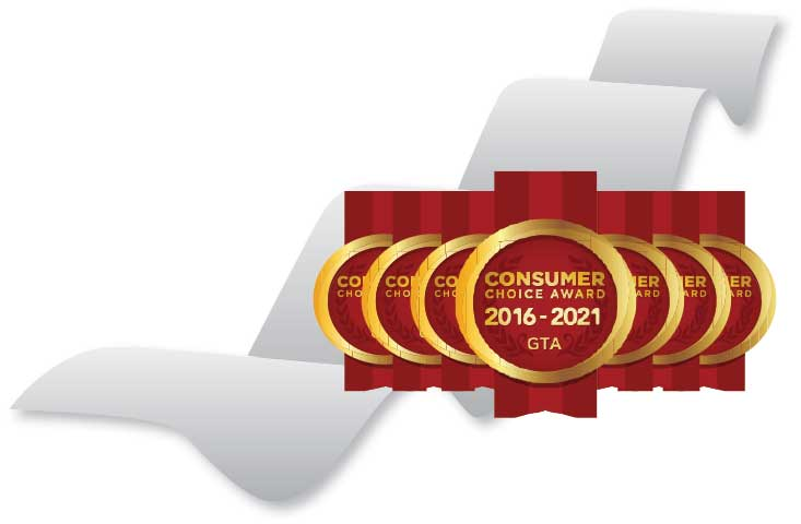 Consumer Choice Award 2016-2021 GTA