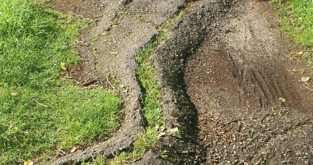 broken driveway