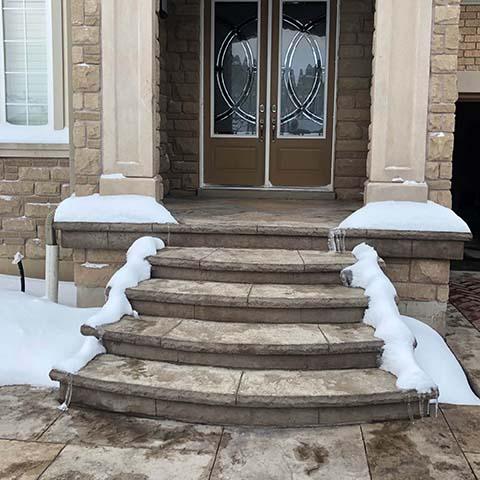 Heated stairs